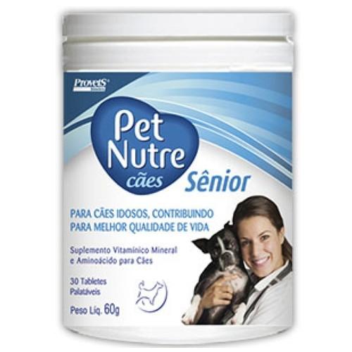 Suplemento Vitamínico Palatável Para Cães Pet Nutre Sênior 60g