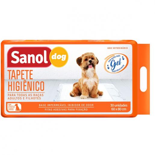 Tapete Higiênico Sanol Dog com 30 Unidades