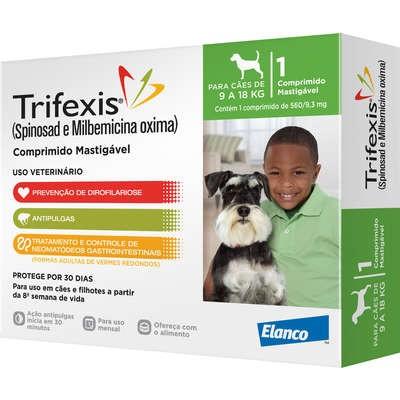 Trifexis Anti Pulgas e Vermífugo Cães de 9kg a 18kg Comprimido Mastigável