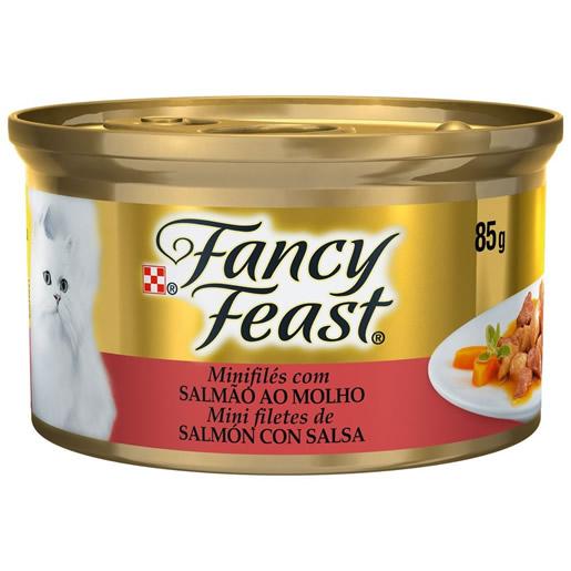 Alimento Úmido Para Gatos Fancy Feast Salmão ao Molho Lata 85g