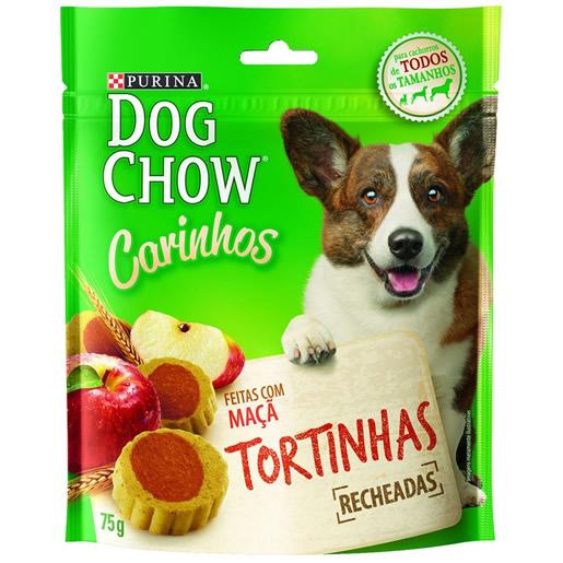 Biscoito Purina Dog Chow Carinhos Tortinhas Maçã 75g
