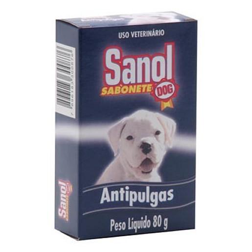 Sabonete Para Cães Sanol Antipulgas 80g
