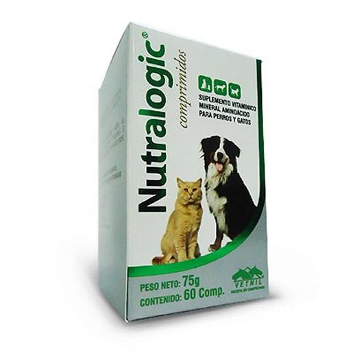 Nutralogic Suplemento Vitaminico Cães Gatos 60 Comprimidos