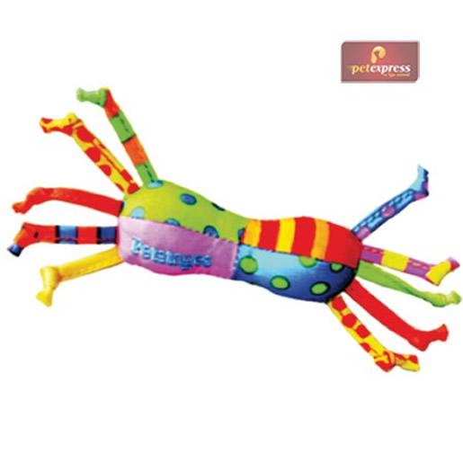 Brinquedo Mini Halteres Em Tecido com Fitas Petstages