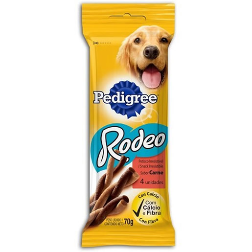 Snacks Pedigree Rodeo Sabor Carne 4 Unidades