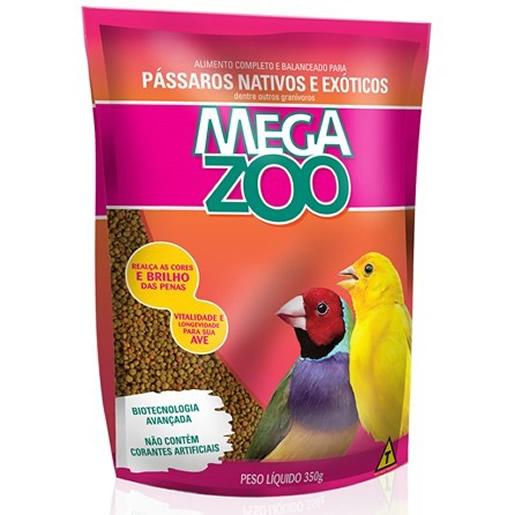 Ração MegaZoo Pássaros Nativos e Exóticos 350g