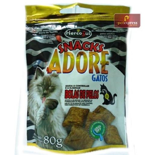 Snack Adore Gatos Bola de Pelos 80g
