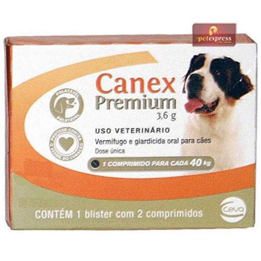 Canex Premium 3,6g Cães 40kg com 2 Comprimidos