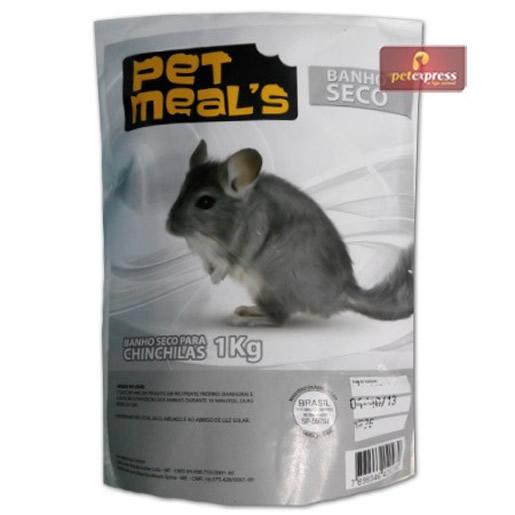Banho Seco para Chinchilas Pet Meals 1kg