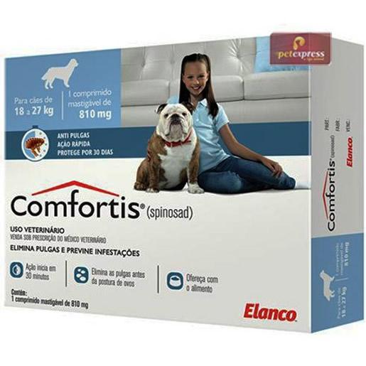 Comfortis Antipulgas 18 a 27 kg 810mg