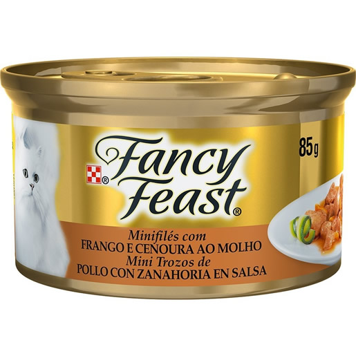Alimento Úmido Para Gatos Fancy Feast Frango e Cenoura Lata 85g