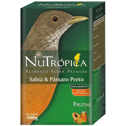 Alimento Ração Sabiá e Pássaro Preto Nutrópica 300g