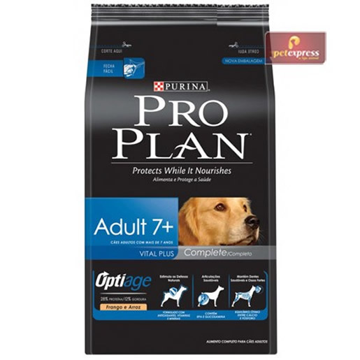 Ração Pro Plan Adult 7+ Complete 15kg