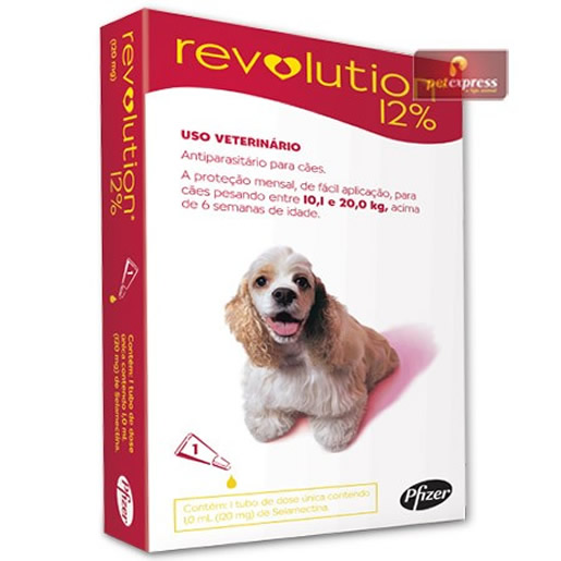 Revolution 12% Cães de 10 a 20kg - 1 Ampola