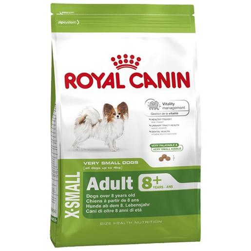 Ração Royal Canin X-Small Adult 8+ Cães 2,5KG