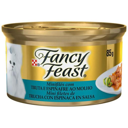Alimento Úmido Para Gatos Fancy Feast Truta e Espinafre Lata 85g