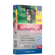Advantage Max 3 GG Cães +25kg Embalagem Econômica c/ 3 unidades