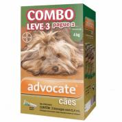 Advocate Combo Leve 3 Pague 2 Para Cães Até 4 Kg