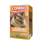 Advocate Combo Leve 3 Pague 2 Para Gatos Até 4kg