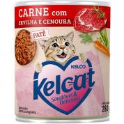 Alimento Úmido Lata Kelcat Carne com Ervilha e Cenoura Gatos 280g