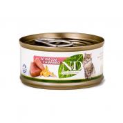 Alimento Úmido ND Feline Atum e Camarão Gatos Adultos 70g