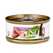 Alimento Úmido ND Feline Atum e Lula Gatos Adultos 70g