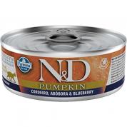 Alimento Úmido ND Pumpkin Cordeiro, Abóbora e Blueberry Gatos Adultos 80g