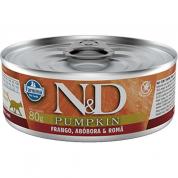 Alimento Úmido ND Pumpkin Frango, Abóbora e Romã Gatos Adultos 80g