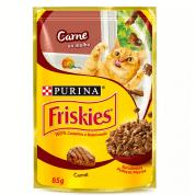 Alimento Úmido Sachê Friskies Carne Gatos 85g