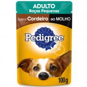 Alimento Úmido Pedigree Sachê Cachorros Raças Pequenas Cordeiro ao Molho 100g