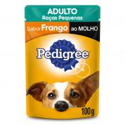 Alimento Úmido Pedigree Sachê Cachorros Raças Pequenas Frango ao Molho 100g