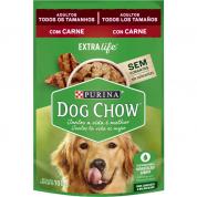 Alimento Úmido Sachê Dog Chow Extralife Cachorros Adultos Carne 100g