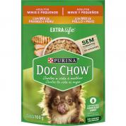 Alimento Úmido Sachê Dog Chow Extralife Mix Frango e Peru Cachorros Raças Pequenas e Mini 100g