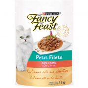 Alimento Úmido Sachê Fancy Feast Petit Filets Carne 85g