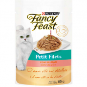 Alimento Úmido Sachê Fancy Feast Petit Filets Salmão 85g