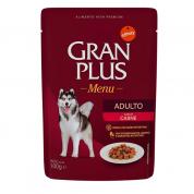Alimento Úmido Sachê Gran Plus Cachorros Adultos Carne 100g