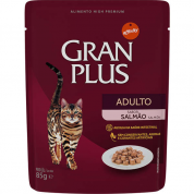 Alimento Úmido Sachê Gran Plus Gatos Adultos Salmão 85g