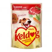 Alimento Úmido Sachê Keldog Carne, Ervilha e Cenoura Cachorros 100g