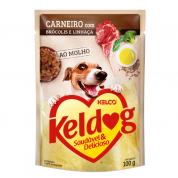 Alimento Úmido Sachê Keldog Carneiro, Brócolis e Linhaça Cachorros 100g