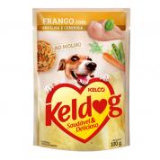 Alimento Úmido Sachê Keldog Frango, Ervilha e Cenoura Cachorros 100g