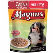 Alimento Úmido Sachê Magnus Carne ao Molho Cachorros Adultos 85g