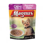 Alimento Úmido Sachê Magnus Carne ao Molho Cachorros Raças Pequenas 85g