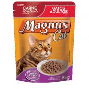 Alimento Úmido Sachê Magnus Cat Gatos Adultos Carne ao Molho 85g