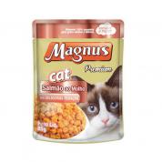 Alimento Úmido Sachê Magnus Cat Gatos Adultos Salmão ao Molho 85g