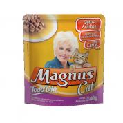 Alimento Úmido Sachê Magnus Cat Todo Dia Gatos Adultos Carne ao Molho 40g