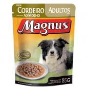 Alimento Úmido Sachê Magnus Cordeiro ao Molho Cachorros Adultos 85g