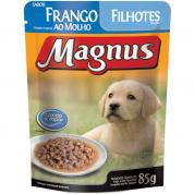 Alimento Úmido Sachê Magnus Frango ao Molho Cachorros Filhotes 85g