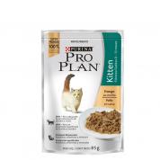 Alimento Úmido Sachê Pro Plan Kitten Gatos Filhotes Frango 85g