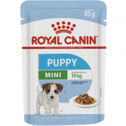 Alimento Úmido Sachê Royal Canin Mini Puppy Wet Cachorros Filhotes 85g