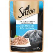 Alimento Úmido Sachê Sheba Atum Marinado Gatos Adultos 85g